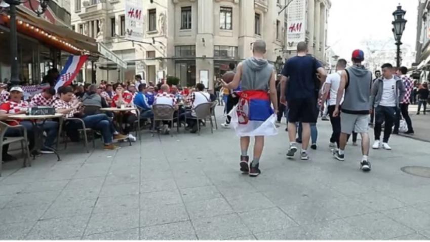 са српском заставом