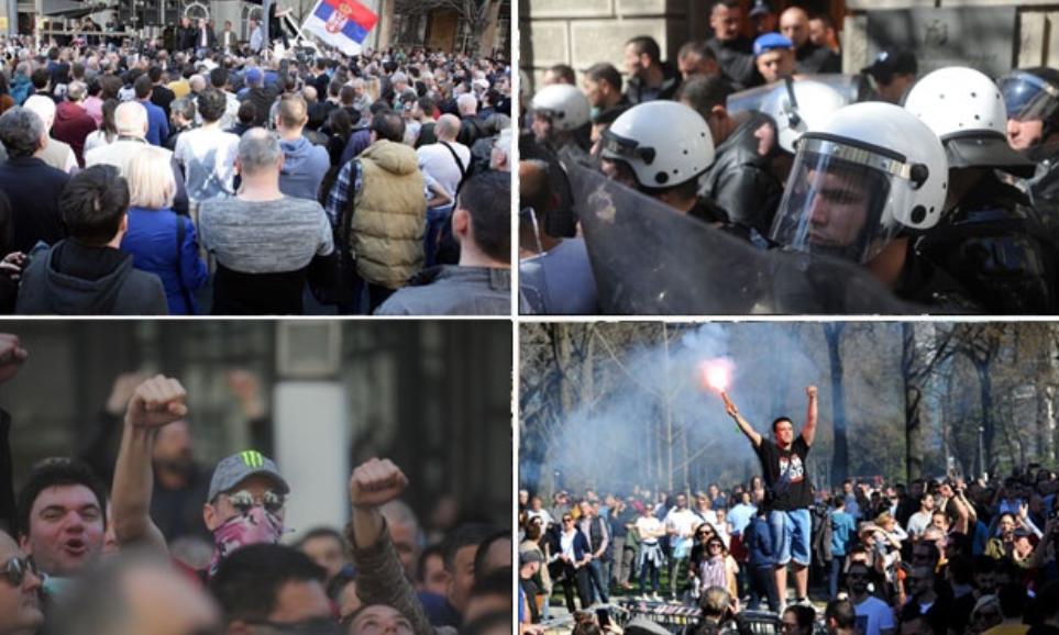 масовни протести у београду
